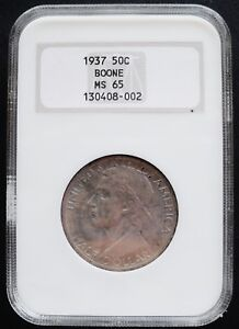 1937 BOONE 50 CENTS NGC MS 65 ./