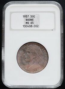 1937 BOONE 50 CENTS NGC MS 65 . /