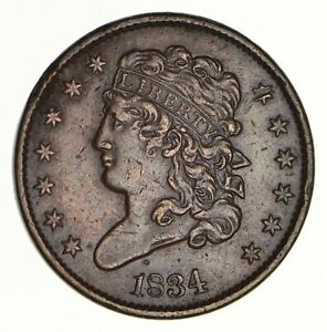1834 CLASSIC HEAD HALF CENT   CIRCULATED  2765