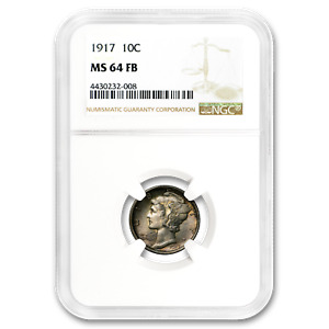 1917 MERCURY DIME MS 64 NGC  FB    SKU187229