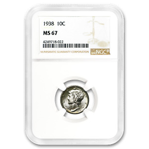 1938 MERCURY DIME MS 67 NGC   SKU187211