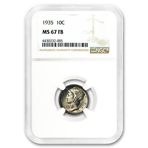 1935 MERCURY DIME MS 67 NGC  FB    SKU187221
