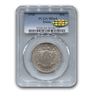 Click now to see the BUY IT NOW Price! 1920 MAINE CENTENNIAL HALF DOLLAR MS 64 PCGS CAC   SKU188120