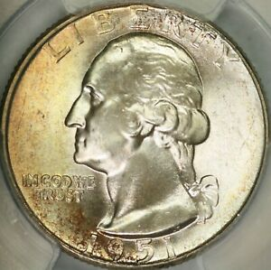 Click now to see the BUY IT NOW Price! 1951 D WASHINGTON QUARTER PCGS MS67  CAC