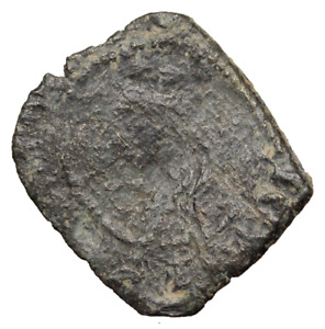 MEDIEVAL SPAIN. ENRIQUE II 1369 1379 BILLON CRUZADO