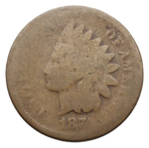 INDIAN HEAD CENT 1874   SEMI KEY DATE