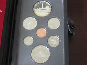 1984 CANADA PROOF SET    WITH ORIGINAL CASE       SILVER UNC   FROM ROYAL MINT