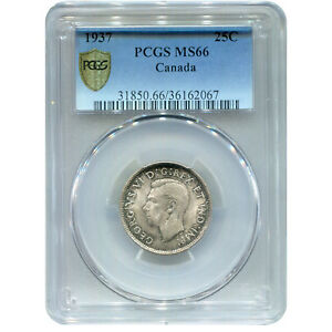Click now to see the BUY IT NOW Price! CANADA 25 CENTS SILVER 1937 MS66 PCGS