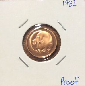 1982 1 CENT ROYAL AUSTRALIAN MINT PROOF COIN.