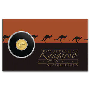 2019 AUSTRALIA 1/2 GRAM GOLD KANGAROO MINI ROO BU  ASSAY CARD    SKU188369
