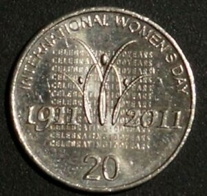 20 CENTS INTERNATIONAL WOMEN'S DAY 2011 AUSTRALIA  1G