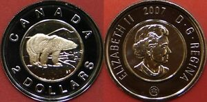 PROOF LIKE 2007 CANADA 2 DOLLARS FROM MINT'S SET