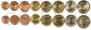 LUXEMBOURG 8 COINS SET 2008 1 C   2 EURO UNC  1723