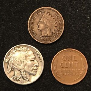 BUFFALO NICKEL INDIAN & WHEAT CENT COLLECTION