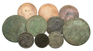 OLD LOT OF 10 COINS FROM AUSTRIA DATED 1800'S TO EARLY 1900'S