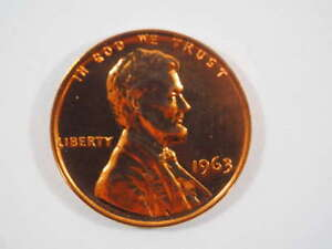 1963 P LINCOLN MEMORIAL CLAD PENNY PROOF CENT US COIN PROOF  PF    SKU 95USPCL