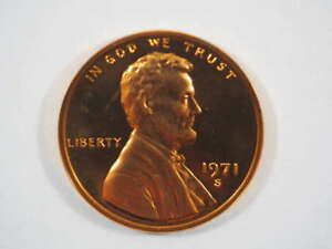 1971 S LINCOLN MEMORIAL CLAD PENNY PROOF CENT US COIN PROOF  PF    SKU 99USPCL
