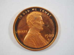 1980 S LINCOLN MEMORIAL CLAD PENNY PROOF CENT US COIN PROOF  PF    SKU 125USPCL