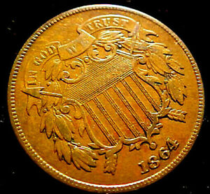 1864 TWO CENT PIECE 2C    NICE CIVIL WAR YEAR COIN   01HM