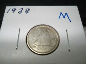 1938   CANADA   SILVER 10 CENT COIN   CANADIAN DIME