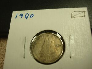1940   CANADA   SILVER 10 CENT COIN   CANADIAN DIME