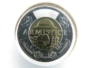 CANADA 2018 BU $2 TWOONIE ARMISTICE POPPY NON COLOURED FROM ROLL BEST QUALITY
