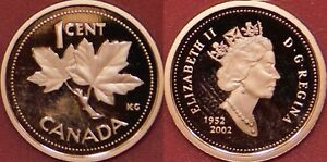 PROOF 2002 CANADA 1 CENT FROM MINT'S SET