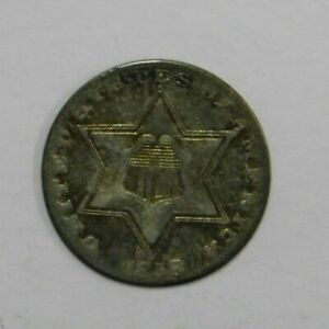 Click now to see the BUY IT NOW Price! 1858 SILVER 3 CENT PIECE VF CHECK PICS