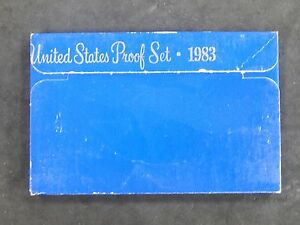 1983 UNITED STATES MINT PROOF SET   PRINTING ERROR/ERROR CASE