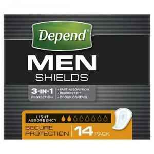 Depend for Men Shields - 14 Pack