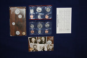 1985 UNITED STATES UNCIRCULATED MINT SET   10 COINS W/ BOX & COA