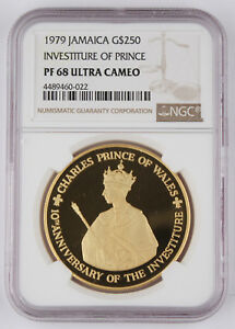 Click now to see the BUY IT NOW Price! JAMAICA 1979 $250 PROOF 1.25 OZ GOLD COIN NGC PF68 INVESTITURE OF PRINCE CHARLES
