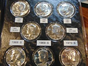 Click now to see the BUY IT NOW Price! COLLECTION OF GEM PROOF KENNEDY HALF DOLLARS 1964 1999