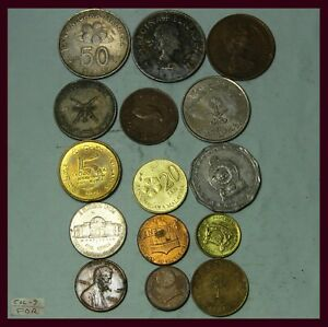 LY    VARIETY WORLD COINS COLLECTION LOT   15 COINS