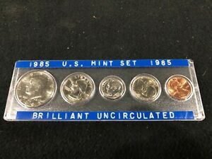 1985 U.S. MINT SET BRILLIANT UNCIRCULATED IN SPECIAL HOLDER PENNY NICKEL DIME