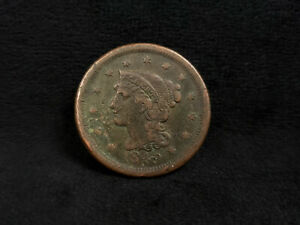 1849 BRAIDED HAIR LARGE CENT    SOLID FILLER PRICED RIGHT    NO.2