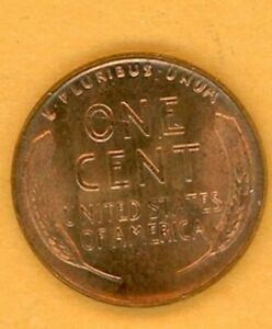 1954 LINCOLN WHEAT CENT BRILLIANT RED AS SEEN IN PHOTO