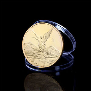 MEXICO GOLD STATUE OF LIBERTY COMMEMORATIVE COINS COLLECTION GIFT HPFBTS