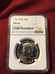 1967 SILVER KENNEDY NGC SMS 66   NICE