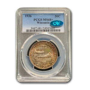 Click now to see the BUY IT NOW Price! 1936 WISCONSIN HALF DOLLAR MS 68  PCGS CAC   SKU191563