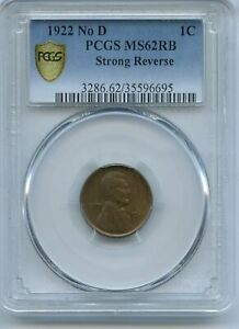 Click now to see the BUY IT NOW Price! 1922 NO D LINCOLN WHEAT CENT PCGS MS62RB STRONG REVERSE JC105
