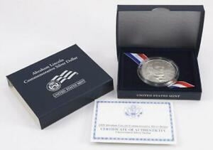 2009 ABRAHAM LINCOLN COMMEMORATIVE SILVER DOLLAR MINT STATE