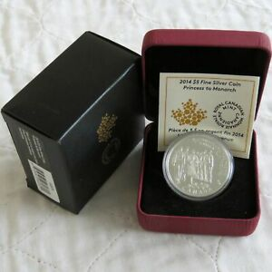 Click now to see the BUY IT NOW Price! 2014 CANADA $5 FINE SILVER PROOF PRINCESS TO MONARCH