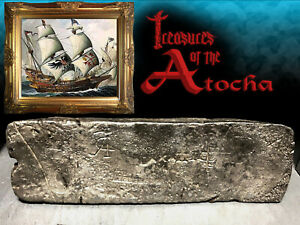 Click now to see the BUY IT NOW Price!  ATOCHA SHIPWRECK 1622 81LBS .999 FINE SILVER BAR MEL FISHERS TREASURE COA