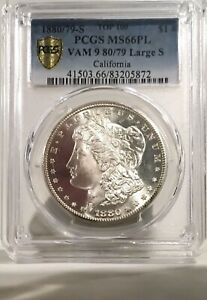 Click now to see the BUY IT NOW Price! 1880/79 S MORGAN DOLLAR PCGS MS 66PL  TOP 100 VAM 9 CALIFORNIA ONLY 1 FINER