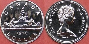 PROOF LIKE 1976 CANADA DETACHED JEWELS 1 DOLLAR FROM MINT'S SET
