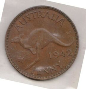 H146 1  1942 AU ONE PENNY COIN  A
