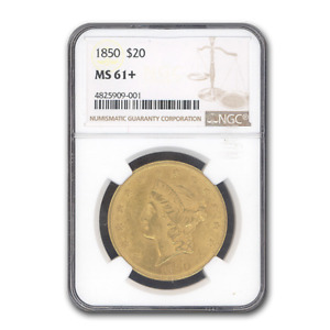 Click now to see the BUY IT NOW Price! 1850 $20 LIBERTY GOLD DOUBLE EAGLE MS 61  NGC   SKU193254