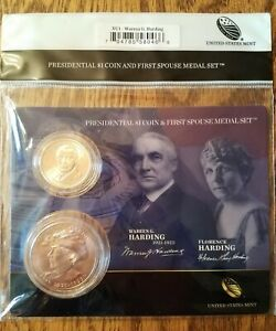 Click now to see the BUY IT NOW Price! 2014 WARREN G HARDING PRESIDENTIAL DOLLAR COIN & FIRST SPOUSE MEDAL SET