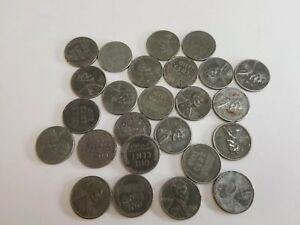 LOT OF 25 STEEL WHEAT PENNIES VARIOUS CONDITIONS  LOT 1230 24